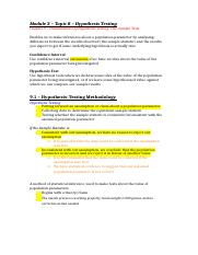 Topic 3a – Hypothesis Testing.doc