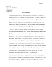 04/11/13 ENGL3333 Essay: Fictional Monsters