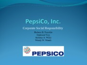 PepsiCo, Inc Final Draft