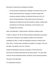 Notes on Democratic Congressional Campaign Committee