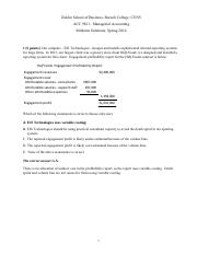 Midterm Solution ACC9811 Spring 2014