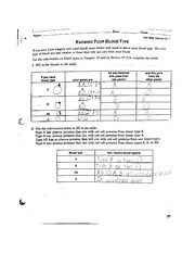 Printables Blood Type Worksheet knowing your blood type worksheet n