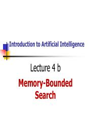 4 Lec 04 b Memory Bounded Search