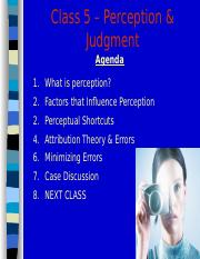 MGHB02 Class 4 - Perception, Attribution, & Judgment Slides.ppt