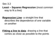 Sec3.3 Least Squares Regression [Recovered]