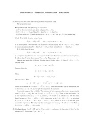 MATH 251 Assignment 3 Solutions