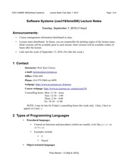 Week 1 Lecture 1 Notes