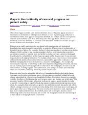 Gaps in continunity of care.docx
