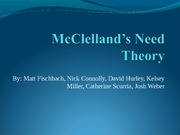 MGT 291-McClelland's Need Theory