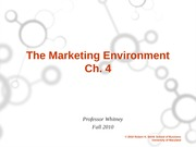 Ch. 4 Marketing Environment Student Version