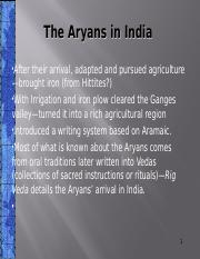 Lecture Two The Aryans in India.odp