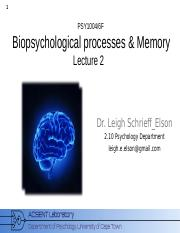 Biopsychology_2015_Lecture_2