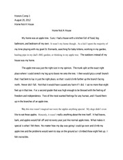 Descriptive Essay- Where is Home?