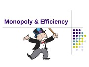 Monopoly & Efficiency