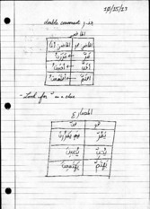 Arabic notes 101513