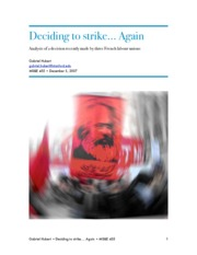 455.Paper.French Unions Strike by Gabriel Hubert.AUT07