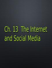 231 Ch13 Internet and Social Media .ppt