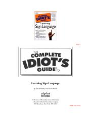 The Complete Idiot's Guide to Learning American Sign Language (Alpha Books, 1998, HTMLtoPDF).pdf