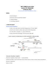 ANT 154B Course notes- Lecture _9