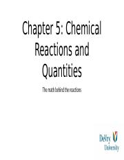 Chem ch.5 chemical reactions and quantities