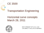 Horizontal curve concepts
