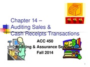 ACC 450 20 Auditing Sales Fall 14
