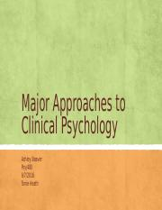 Major Approaches to Clinical Psychology