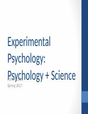 1 - Psychology & Science