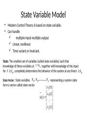 Lec5 Ch3 State Variable Model
