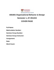 AB1601 COVER PAGE TEMPLATE for assignment - AB1601