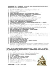 Art History Test #3 Study Guide