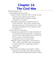 Chapter 14- The Civil War
