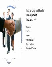 Mark Fekete_WK#3_Leadership and Conflict Management Presentation.pptx