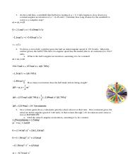 Intro to rotational kinematics problems answer key