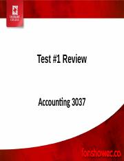Test #1 Review