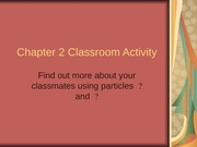 Chapter 2 activity 2