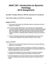 ANAT 261 - Assignment 2015