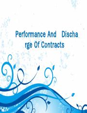 Performance And   Discharge Of Contracts 2017