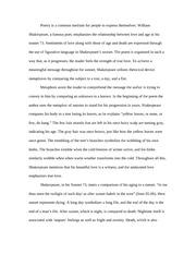 william shakespeare sonnet 73 essay outline
