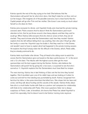 Katniss spends the rest of the day crying on her bed