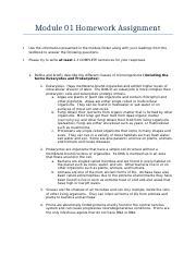 module 2 homework assignment