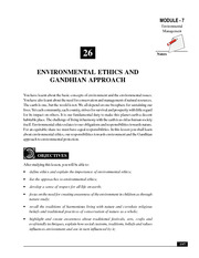 26_Environmental Ethics and Gandhian Approach