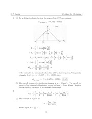 Physics 2.71 Pset 8 Solutions