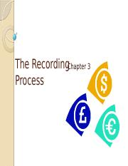 Chapter 3 - The Recording Process