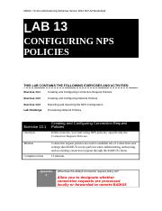 Lab Worksheet Lesson 13 Configuring NPS Policies