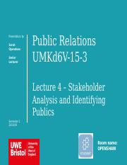 Lecture 4 - Stakeholder Analysis and Identifying Publics.pptx