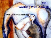 W1L Domestication and Livestock Heritage