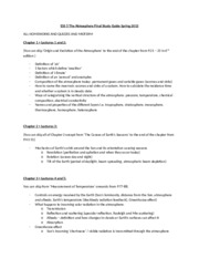 ESS 5 Earth Atmosphere Final study guide