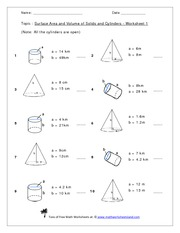 Volume Of Cylinder Worksheets Kuta: Name  Date        Tons of Free Math,