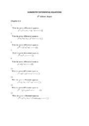 ELEMENTRY DIFFERENTIAL EQUATIONS 4.3